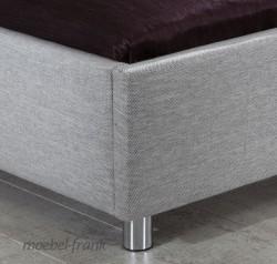 polsterbett 140x200 stoff grau bett doppelbett melanie ebay. Black Bedroom Furniture Sets. Home Design Ideas