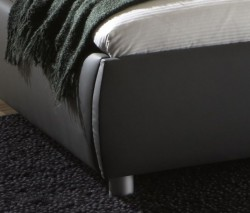 polsterbett grau 140x200 kunst lederbett komfort bett doppelbett mena ebay. Black Bedroom Furniture Sets. Home Design Ideas