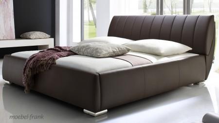 polsterbett incl bettkasten und lattenrost bett 180x200 braun lubin ebay. Black Bedroom Furniture Sets. Home Design Ideas